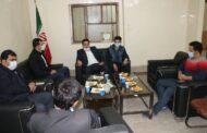 نشست رئیس شورای شهرستان مسجدسلیمان با رئیس اداره ورزش و جوانان